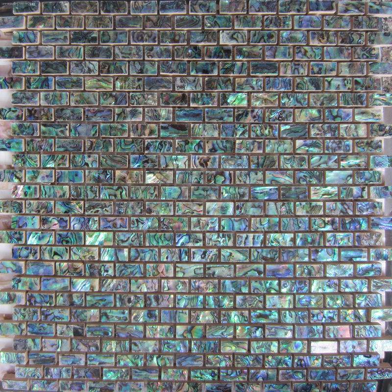 Abalone Natural Brick Shell Mosaic Sheet 1 tile